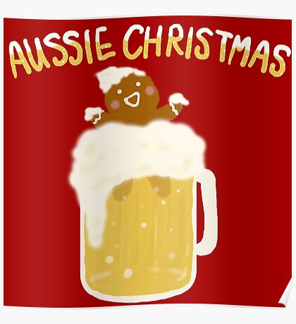 Aussie Christmas - Beer Poster