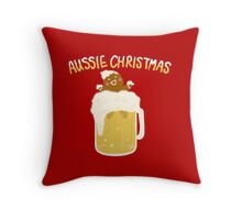 Aussie Christmas - Beer Throw Pillow