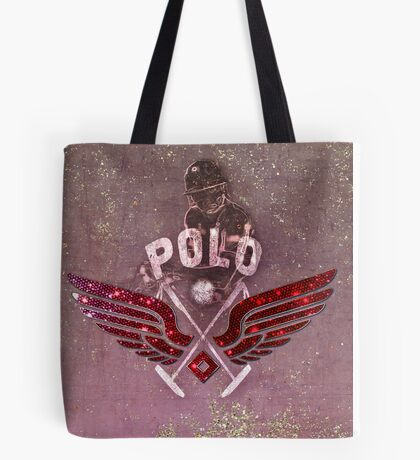 polo player red (tb) Tote Bag