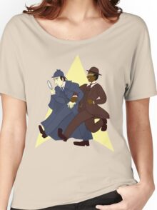 Data and Geordi as Sherlock and Watson Women's Relaxed Fit T-Shirt