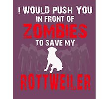 Front Of Zombies Rottweiler Photographic Print