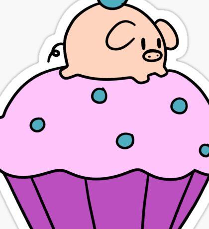 Cupcake Pig Sticker