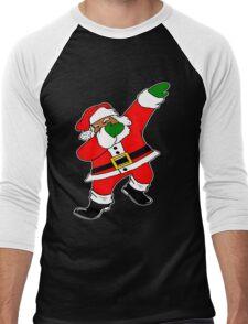 Dab Black Santa Men's Baseball ¾ T-Shirt