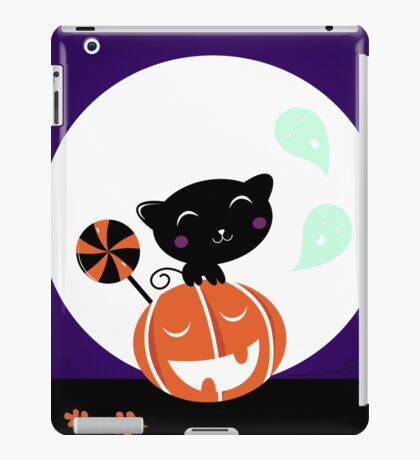 Cute stylish black cartoon Cat : new in shop iPad Case/Skin