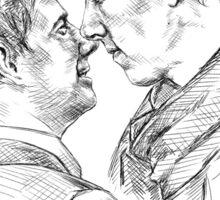 Sherlock & John - Johnlock Sticker