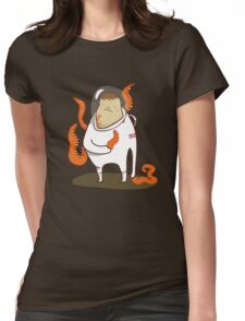 Astronaut - Alien takeover Womens Fitted T-Shirt