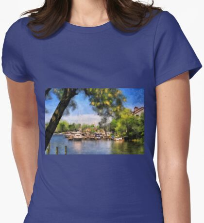Spa Creek Womens Fitted T-Shirt