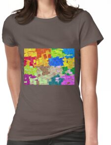 colorful painting texture abstract background Womens Fitted T-Shirt