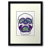 Retro Ukemi skull Framed Print