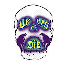 Retro Ukemi skull Photographic Print