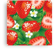 Strawberry seamless Canvas Print