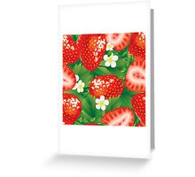 Strawberry seamless Greeting Card