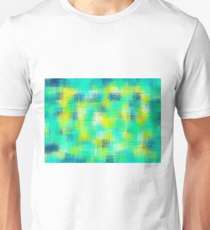 blue green and yellow painting abstract Unisex T-Shirt