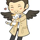 Castiel + Cat by Cirtolthioel