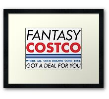 Fantasy Costco Typography Shirt Framed Print