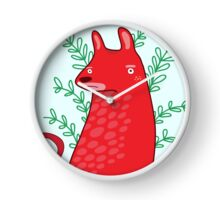 Big red Dog Clock