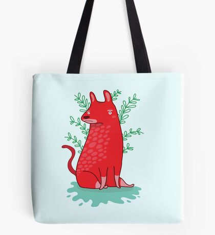 Big red Dog Tote Bag
