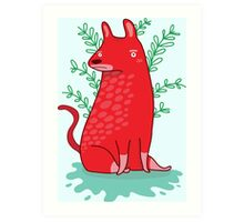 Big red Dog Art Print