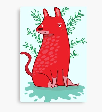 Big red Dog Canvas Print