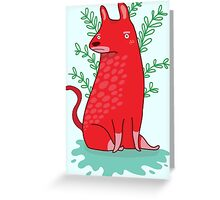 Big red Dog Carte de vœux