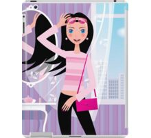 Girl before a walk iPad Case/Skin