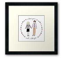 Leslie & Ben Framed Print