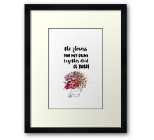 DIED OF THIRST Framed Print