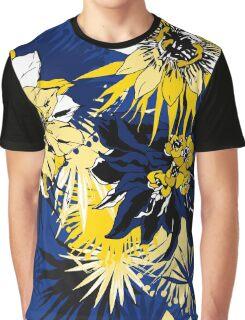 Blue Tropical Graphic T-Shirt