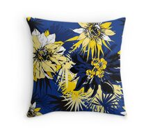 Blue Tropical Throw Pillow