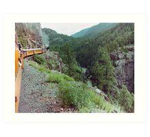 Durango to Silverton Narrow Gauge Railroad, Colorado, USA Art Print