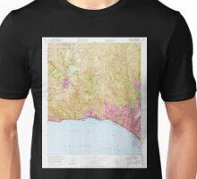 USGS TOPO Map California CA Topanga 300899 1952 24000 geo Unisex T-Shirt