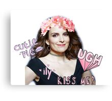 Tina Fey - Cutie Pie Canvas Print
