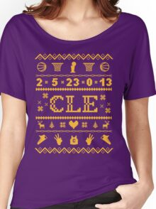 CLE Christmas Sweater Women's Relaxed Fit T-Shirt
