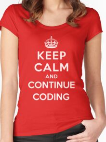 Keep Calm Continue Coding Women's Fitted Scoop T-Shirt