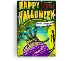 Halloween Brain Party  Canvas Print