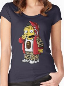 Bape The Simpsons Women's Fitted Scoop T-Shirt
