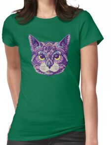 Cat Head (Color Version) Womens Fitted T-Shirt