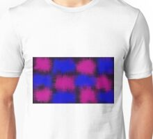 pink and blue painting abstract Unisex T-Shirt