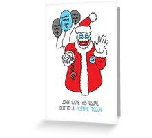 Killer Christmas Cards - John Wayne Gacy Greeting Card