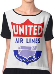 United Luggage Tag Chiffon Top