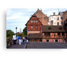 Strasbourg, Ponts Couverts Street, France Canvas Print