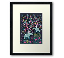 Warming Bears, Warming Dreams  Framed Print