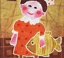 Girl with a fish by maystra