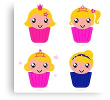 Little princess cakes for your party : pink Canvas Print
