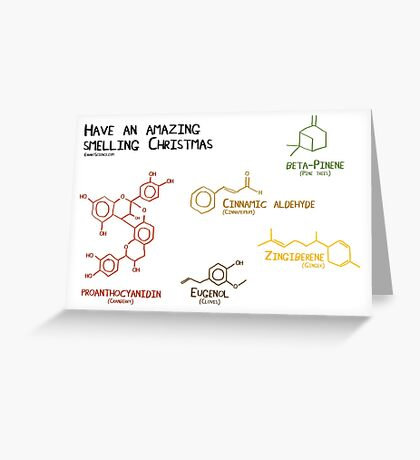 Chemistry behind the smell of christmas Greeting Card