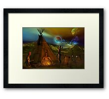 tribal legends  re-edited Framed Print