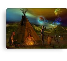 tribal legends  re-edited Canvas Print
