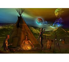 legends of the sky people  Photographic Print