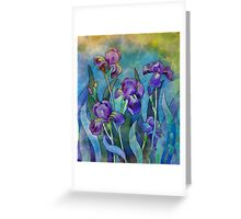 Irises watercolor Greeting Card