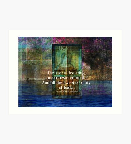 Book literary reading quote Art Print